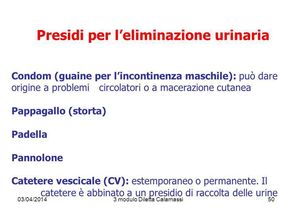 Presidi per l'eliminazione urinaria