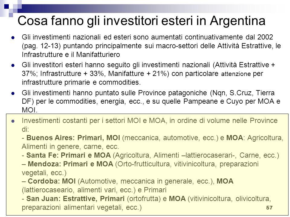 Cosa fanno gli investitori esteri in Argentina