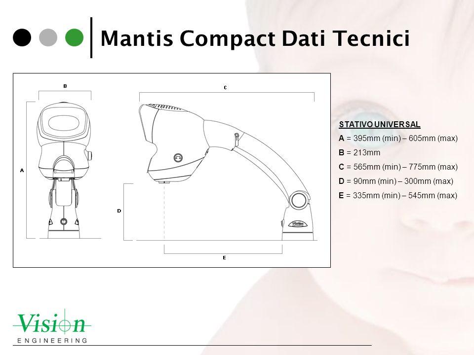 Mantis Compact Dati Tecnici