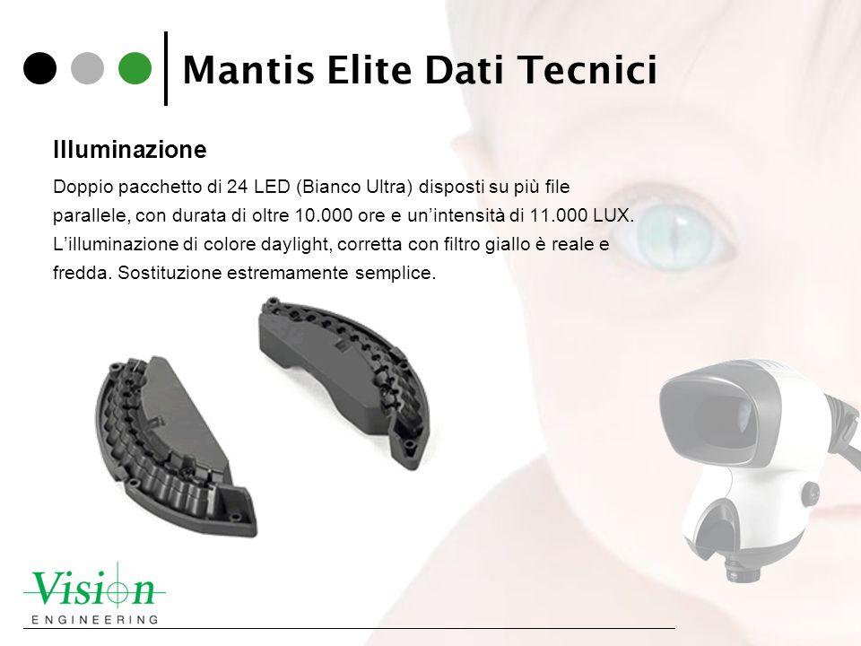 Mantis Elite Dati Tecnici