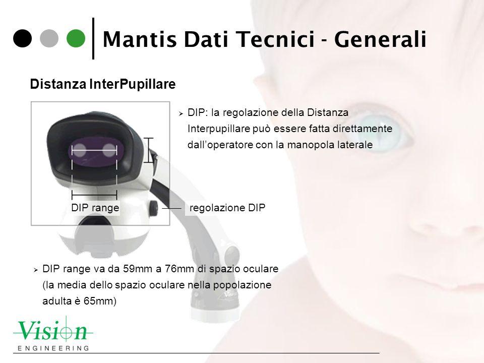 Mantis Dati Tecnici - Generali