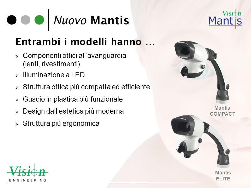 Nuovo Mantis Entrambi i modelli hanno …