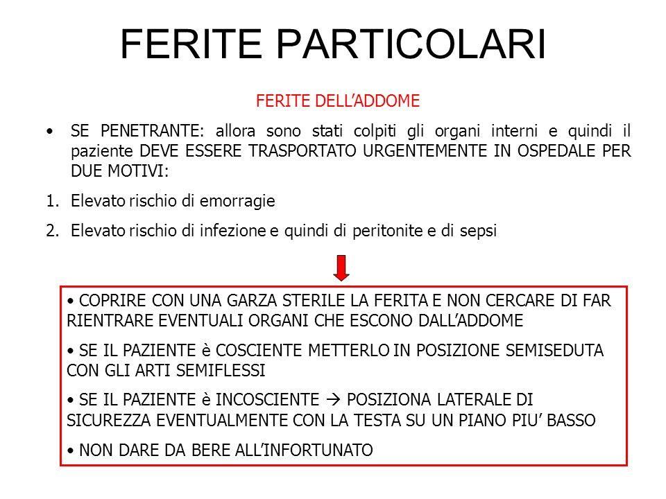 FERITE PARTICOLARI FERITE DELL'ADDOME