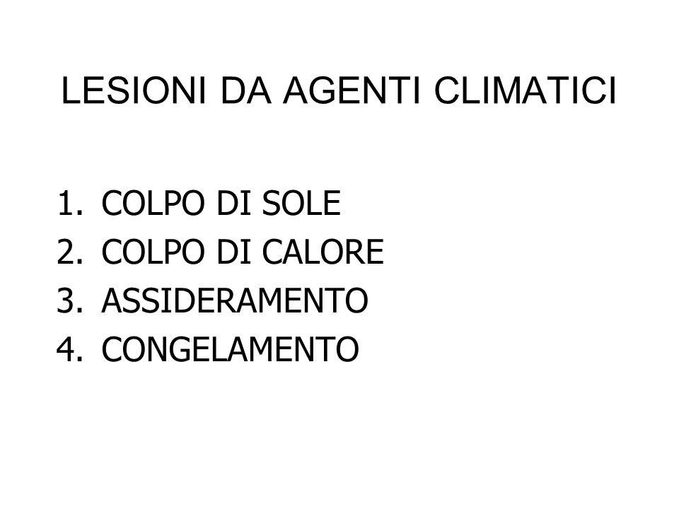 LESIONI DA AGENTI CLIMATICI