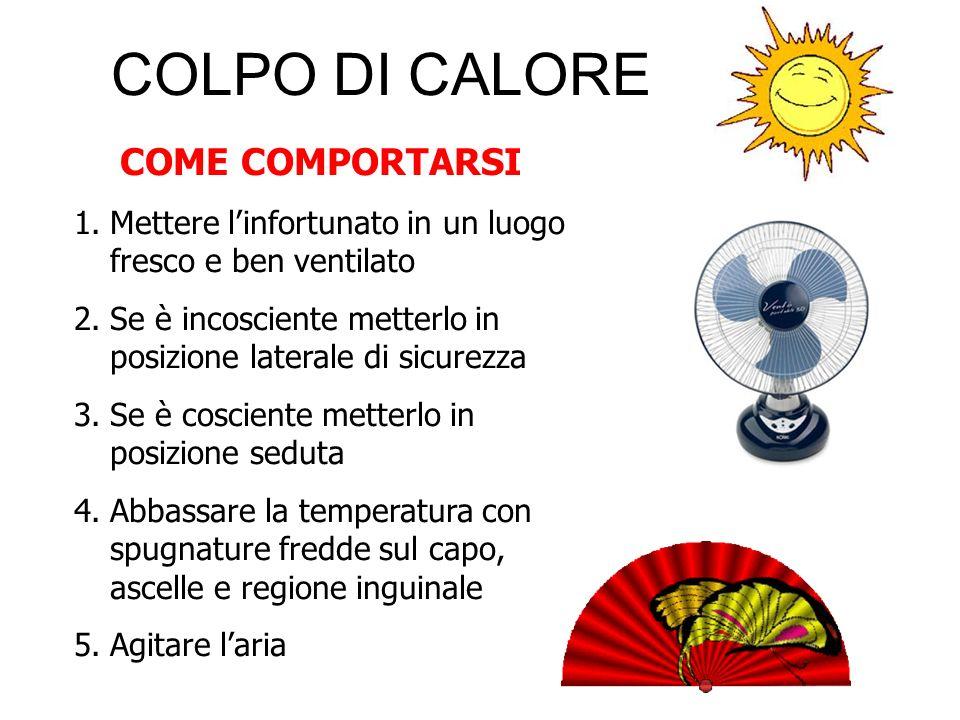 COLPO DI CALORE COME COMPORTARSI