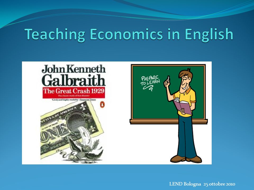 Teaching Economics in English