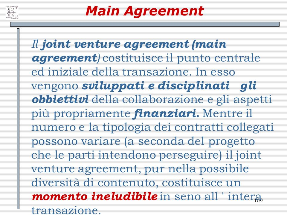 Main Agreement