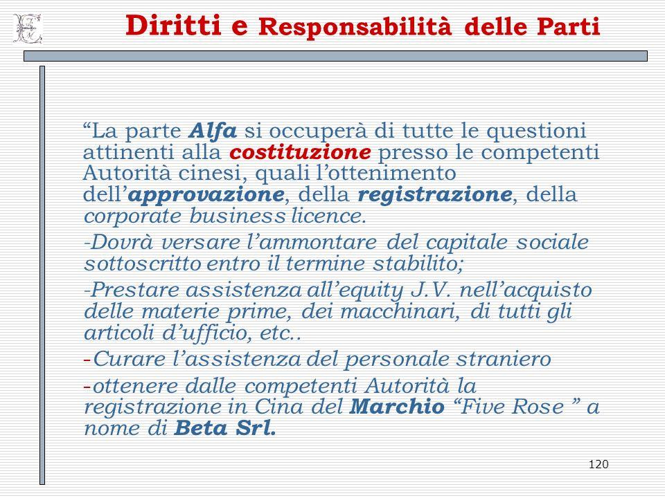 Diritti e Responsabilità delle Parti