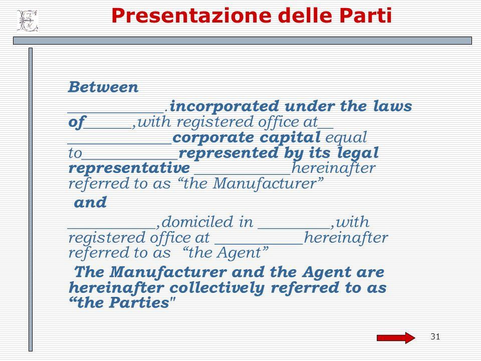 Presentazione delle Parti