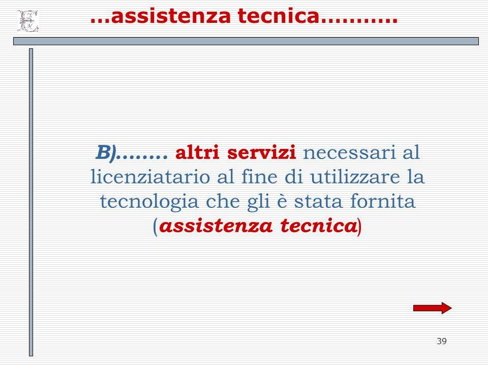 …assistenza tecnica………..