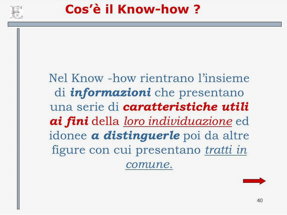 Cos'è il Know-how