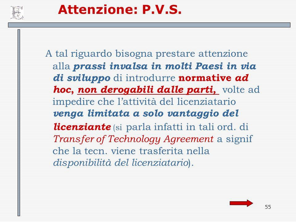 Attenzione: P.V.S.