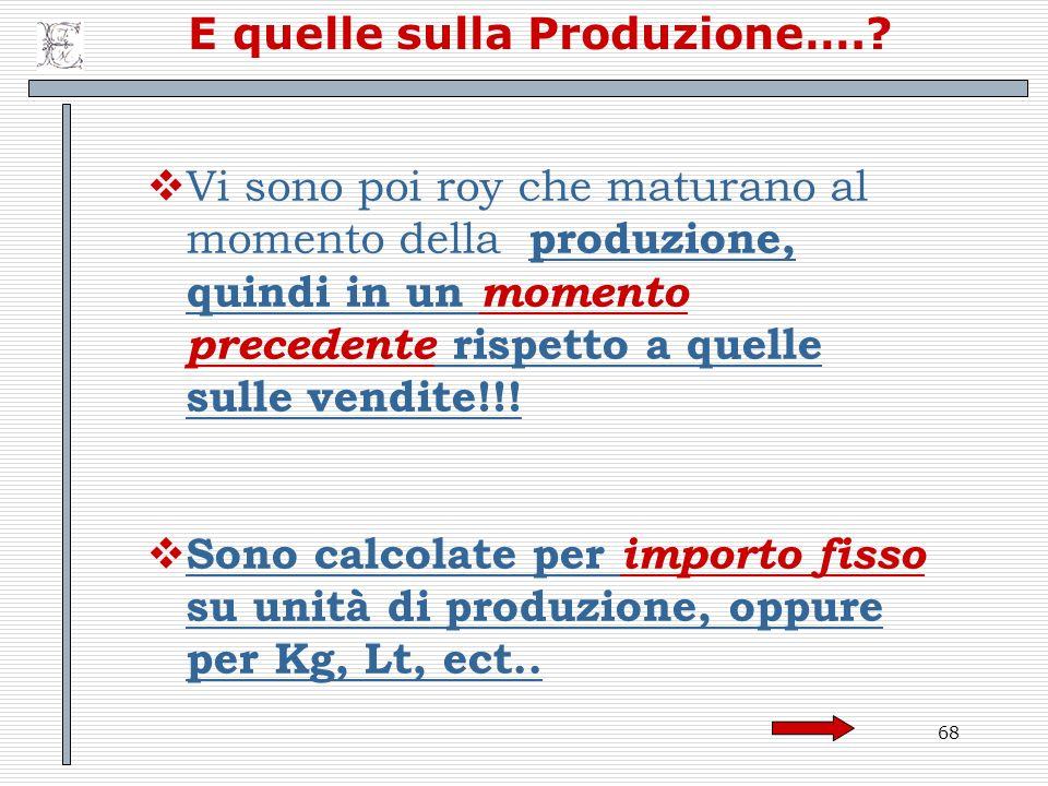 E quelle sulla Produzione….