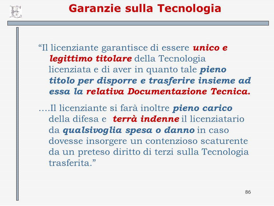 Garanzie sulla Tecnologia