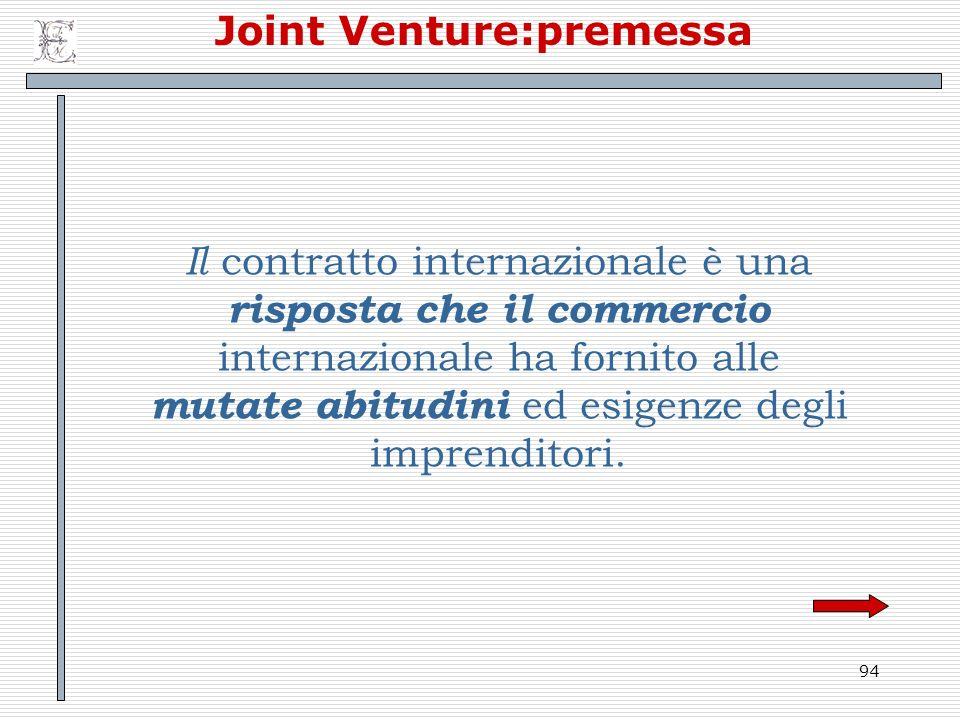 Joint Venture:premessa