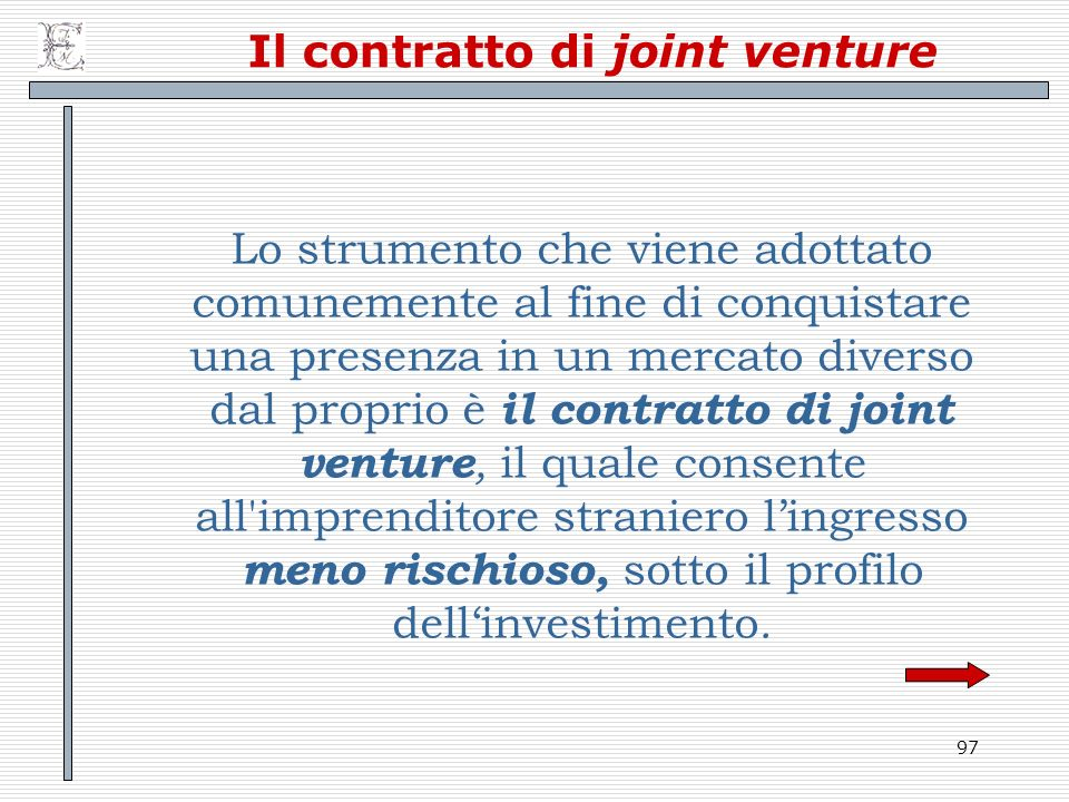 Il contratto di joint venture