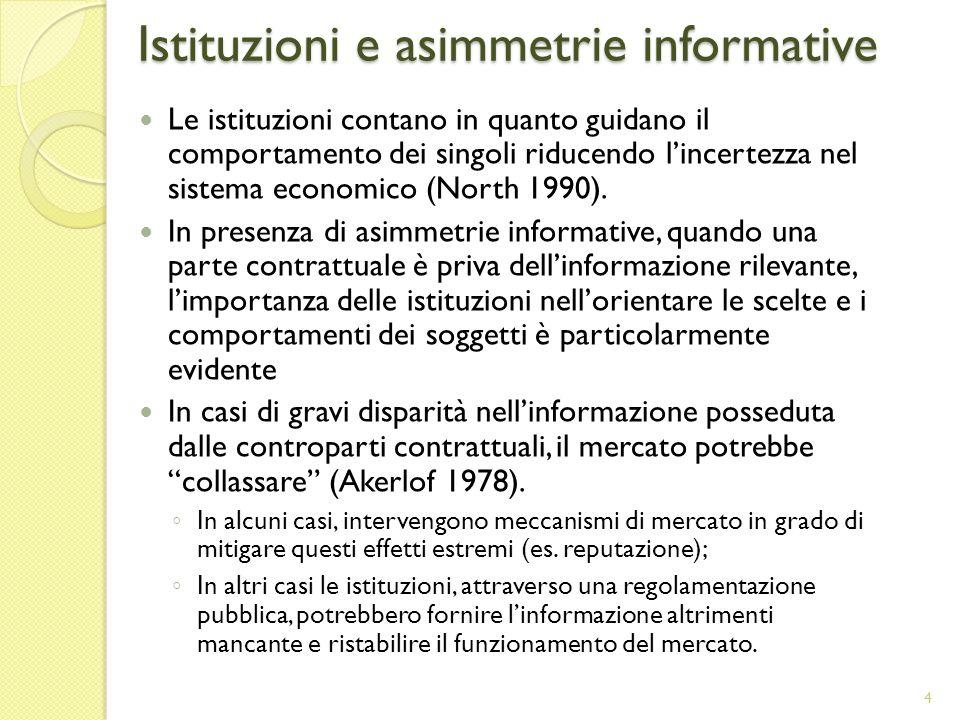 Istituzioni e asimmetrie informative
