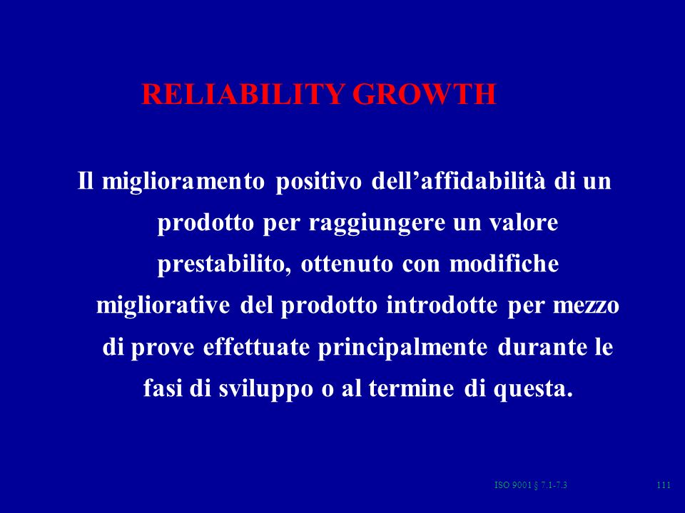 RELIABILITY GROWTH