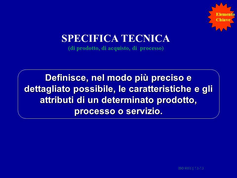 SPECIFICA TECNICA (di prodotto, di acquisto, di processo)