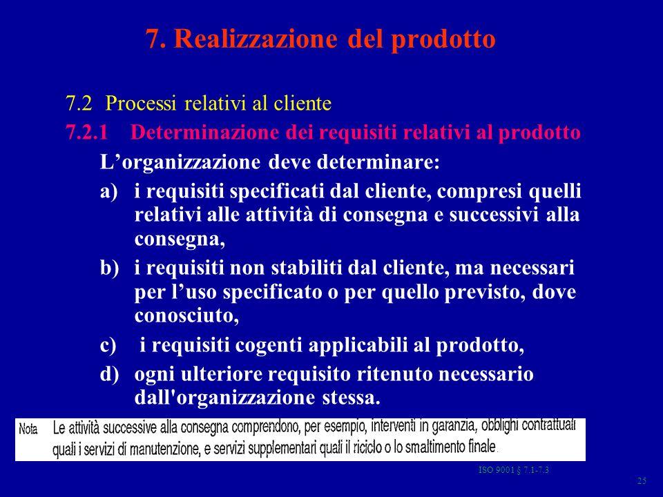 7. Realizzazione del prodotto