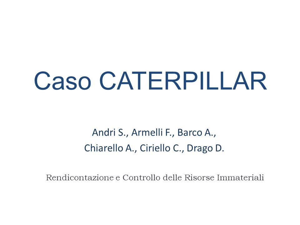 Andri S., Armelli F., Barco A., Chiarello A., Ciriello C., Drago D.