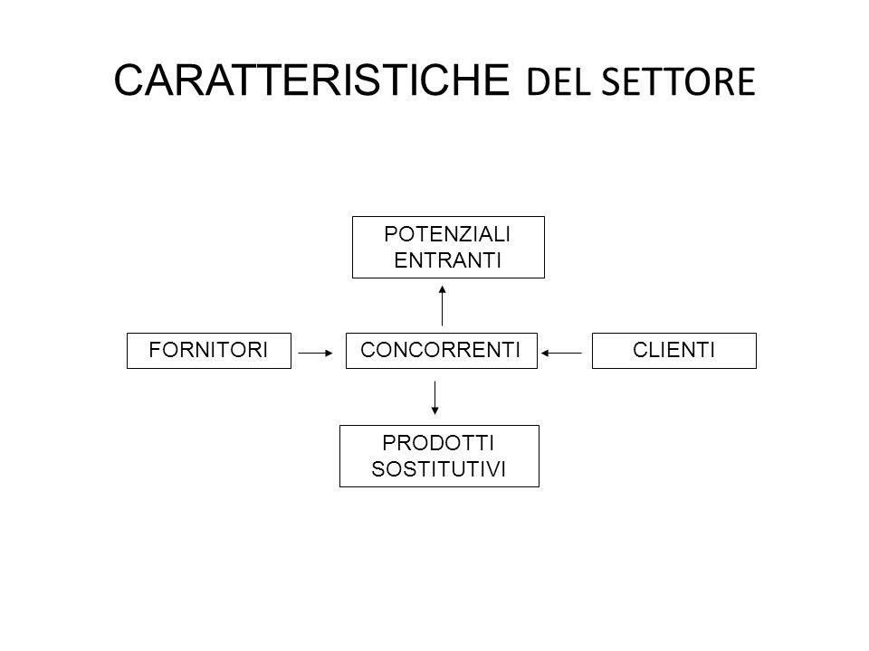 CARATTERISTICHE DEL SETTORE