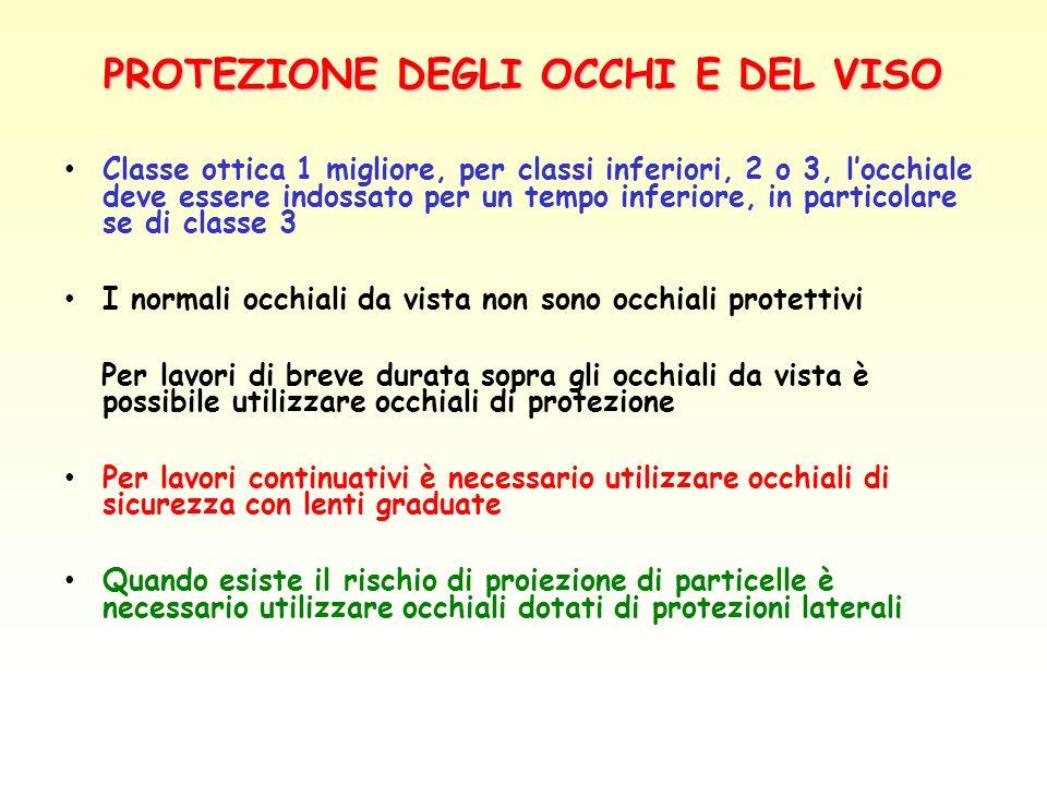 PROTEZIONE DEGLI OCCHI E DEL VISO