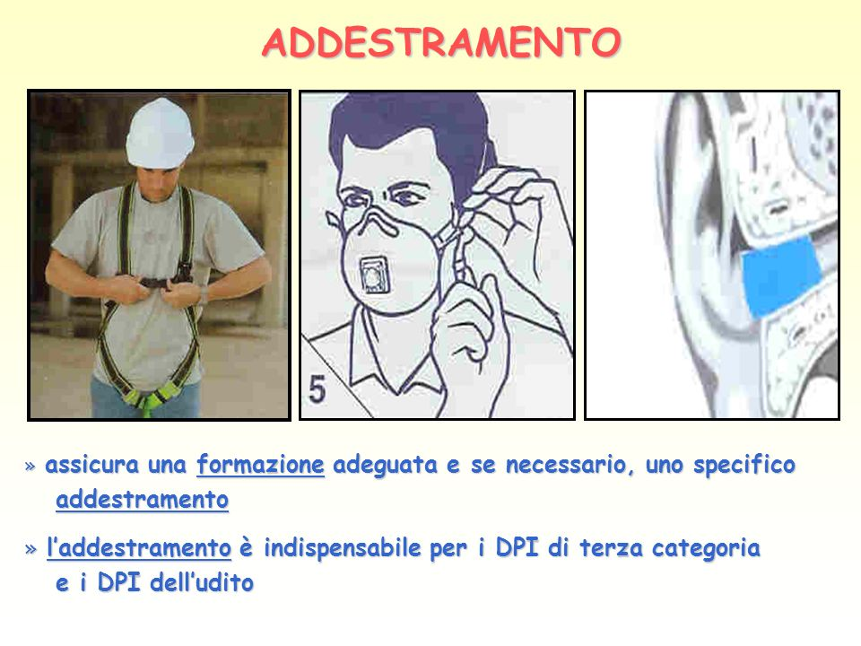 ADDESTRAMENTO addestramento e i DPI dell'udito