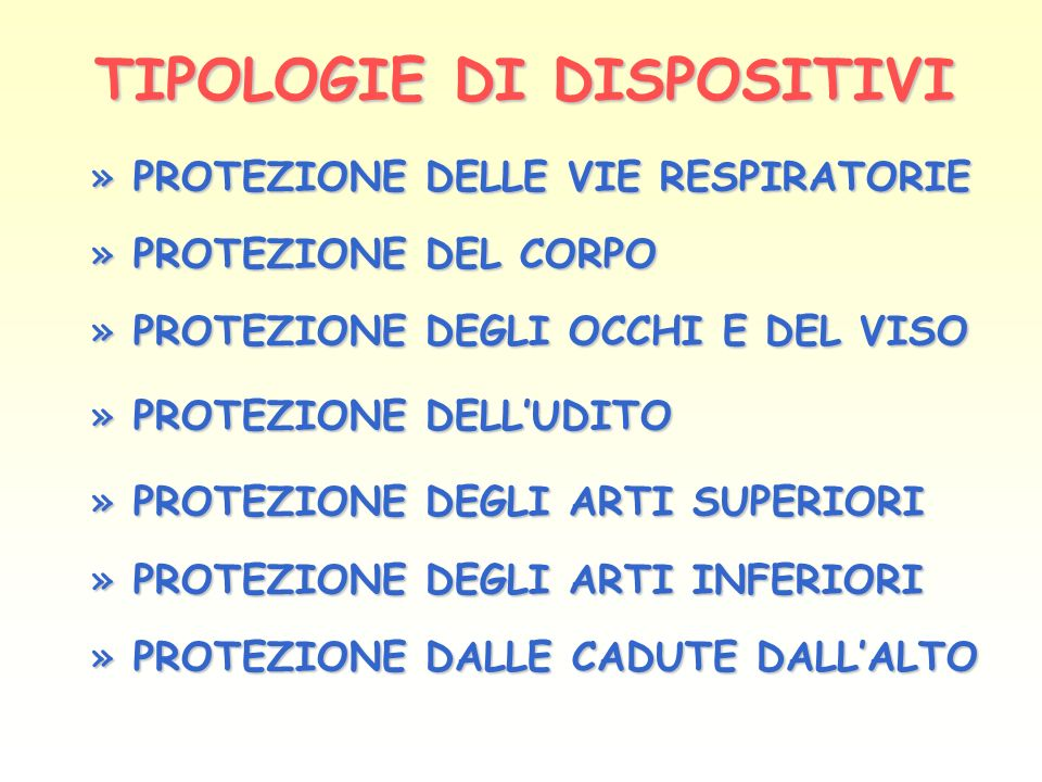 TIPOLOGIE DI DISPOSITIVI