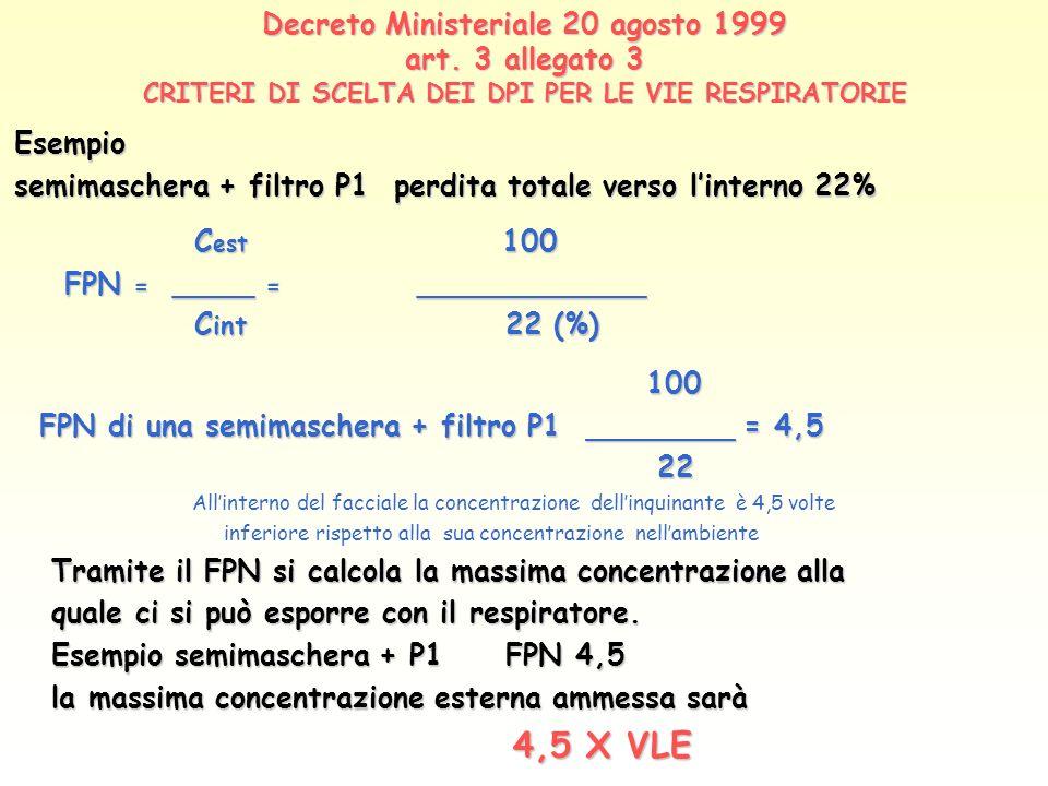 Decreto Ministeriale 20 agosto 1999 art