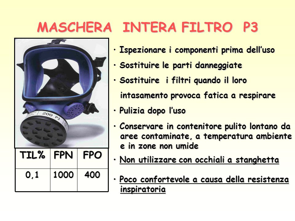 MASCHERA INTERA FILTRO P3