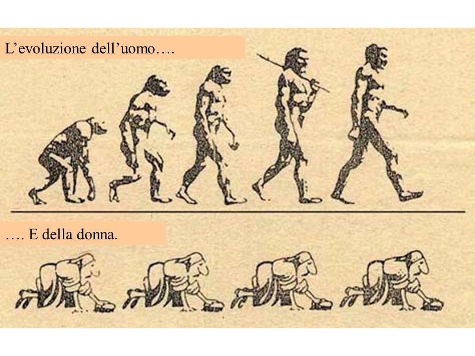L'evoluzione dell'uomo….