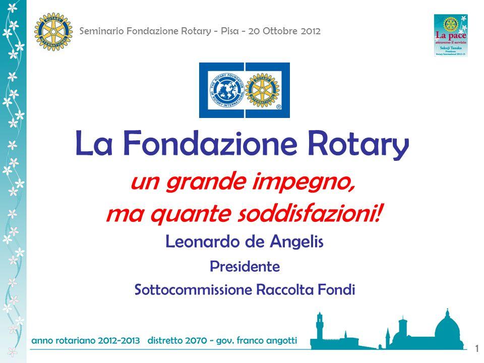 La Fondazione Rotary un grande impegno, ma quante soddisfazioni!
