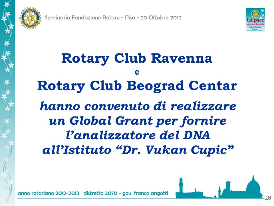 Rotary Club Ravenna Rotary Club Beograd Centar