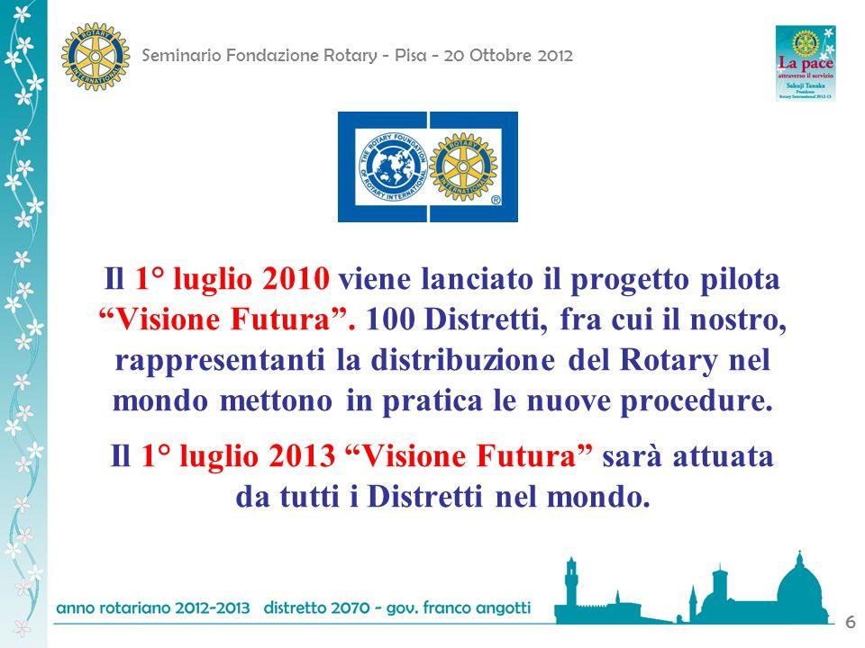 Il 1° luglio 2010 viene lanciato il progetto pilota Visione Futura