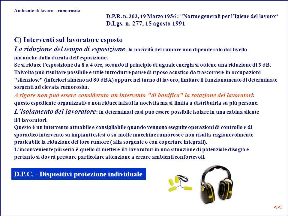 Ambiente di lavoro - rumorosità