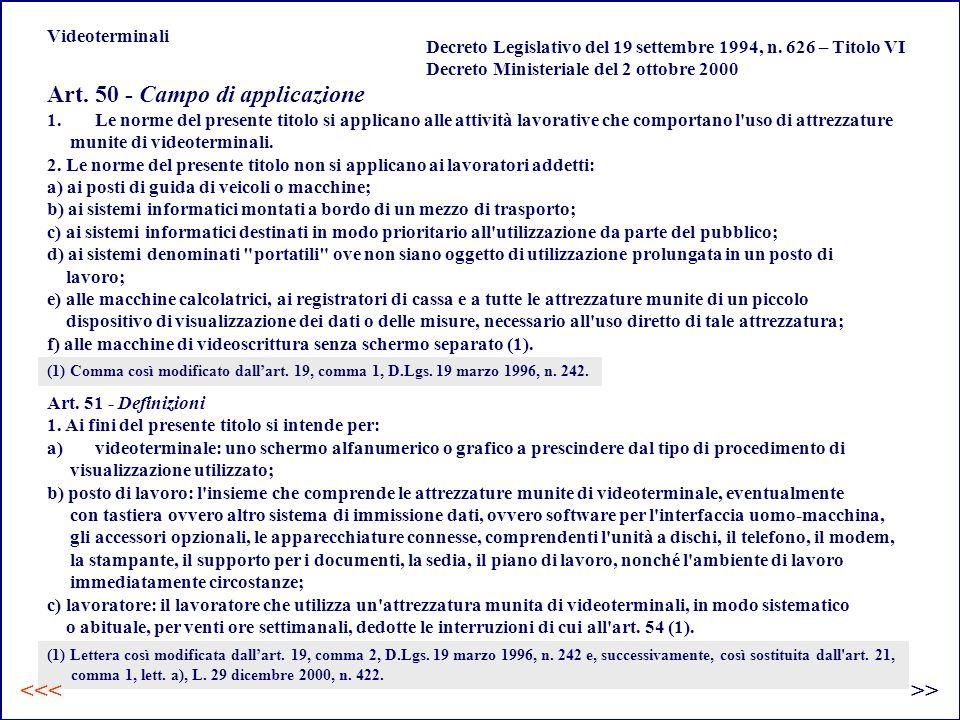 Art. 50 - Campo di applicazione