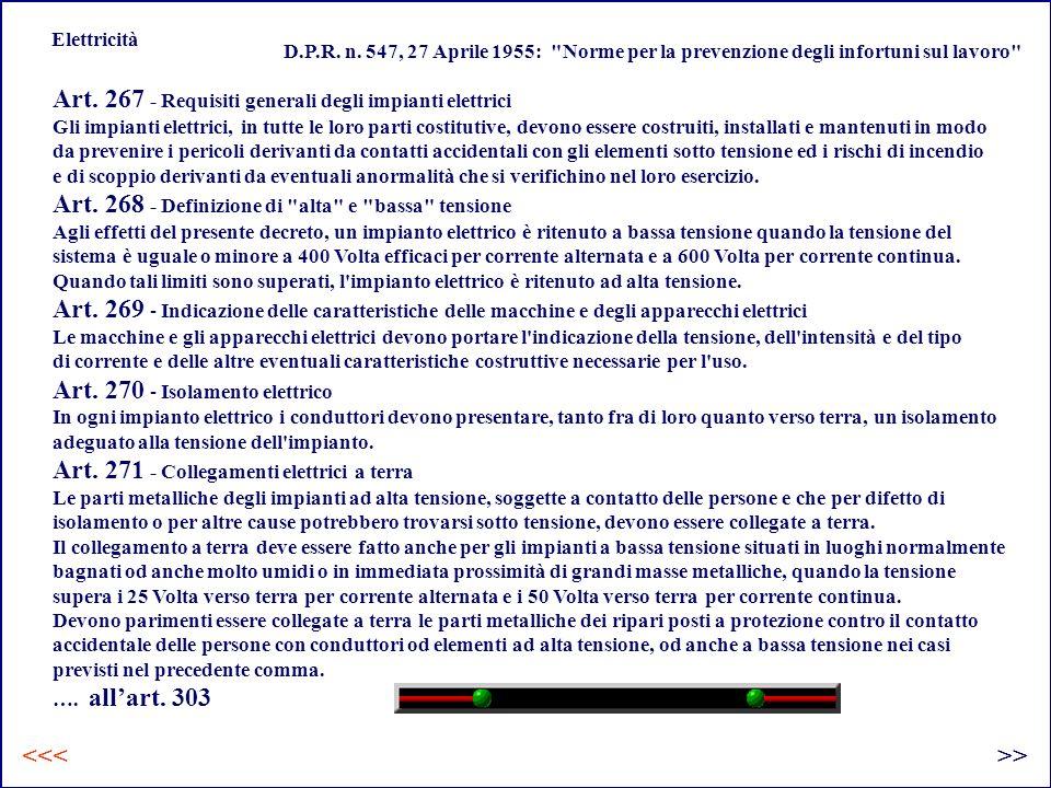 Art. 267 - Requisiti generali degli impianti elettrici