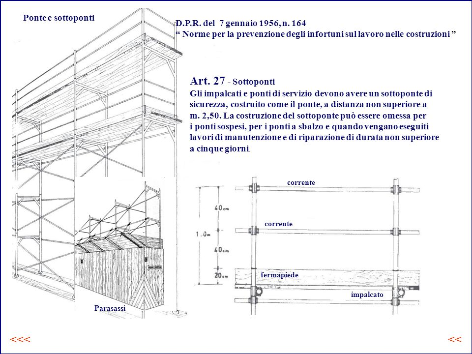 Art. 27 - Sottoponti <<< << Ponte e sottoponti