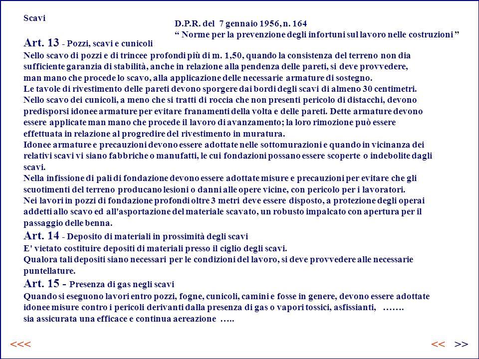 Art. 13 - Pozzi, scavi e cunicoli