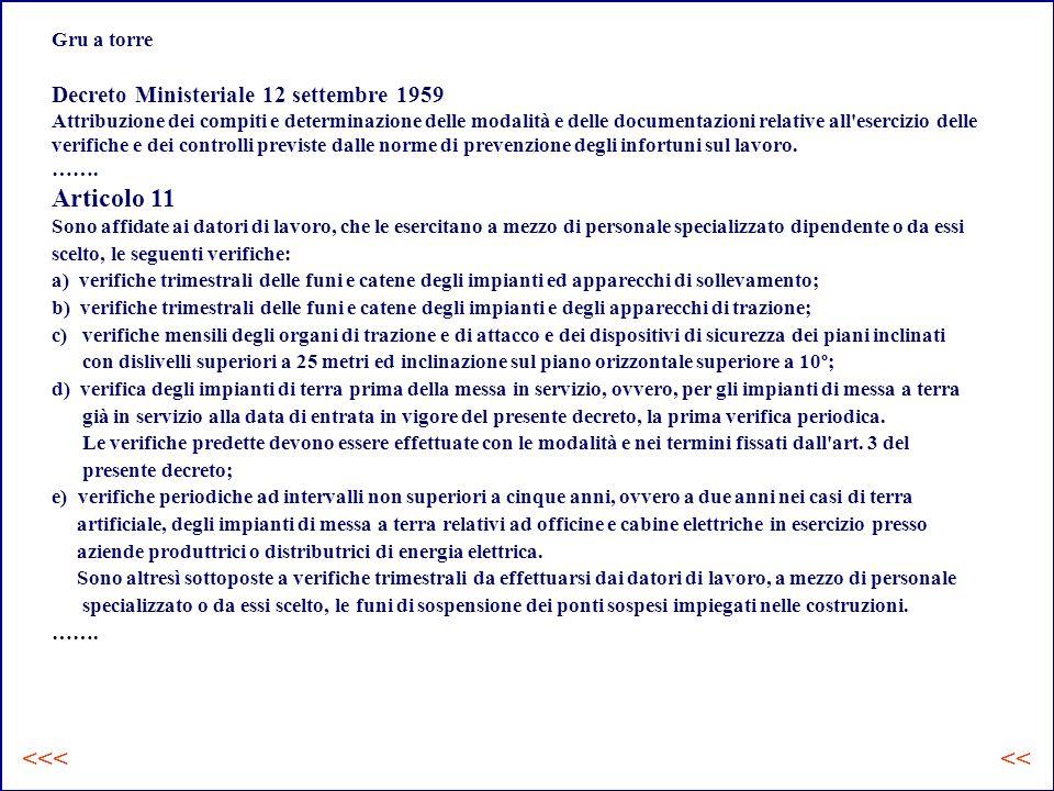 Articolo 11 <<< <<