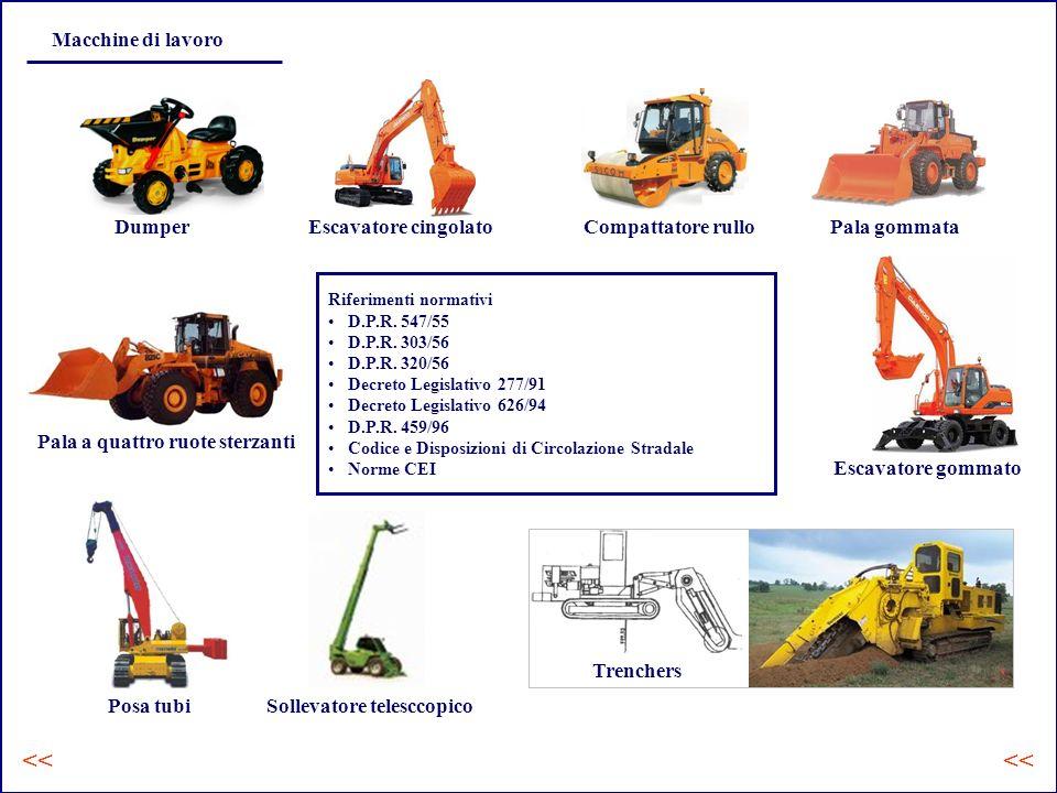 << << Macchine di lavoro Dumper Escavatore cingolato