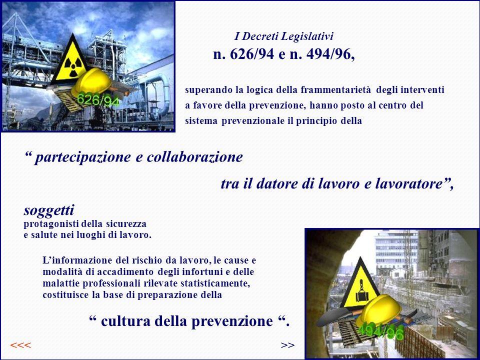 I Decreti Legislativi n. 626/94 e n. 494/96,