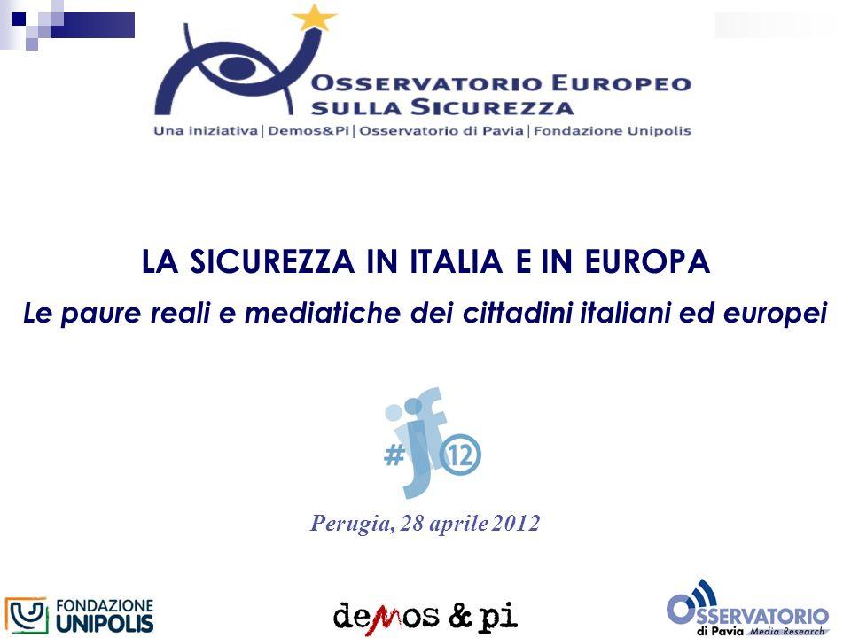 LA SICUREZZA IN ITALIA E IN EUROPA