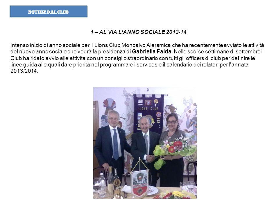 1 – AL VIA L'ANNO SOCIALE 2013-14