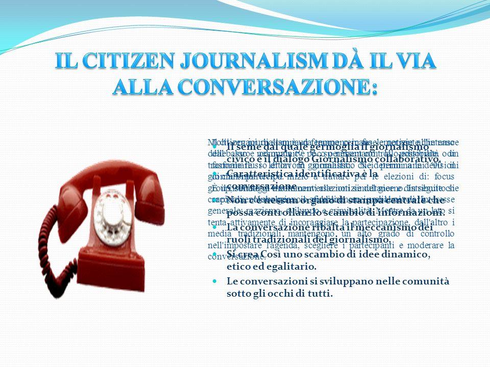 Il Citizen Journalism dà il Via Alla Conversazione: