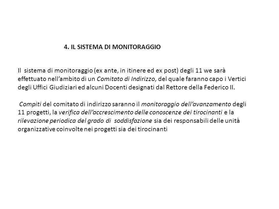 4. IL SISTEMA DI MONITORAGGIO