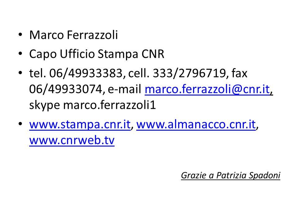 Capo Ufficio Stampa CNR