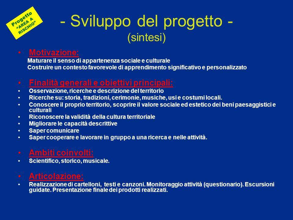 - Sviluppo del progetto - (sintesi)
