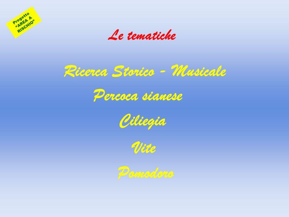 Progetto AREA A RISCHIO Ricerca Storico - Musicale